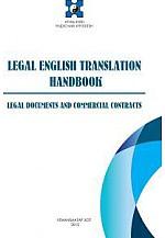 Legal english translation handbook