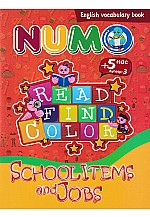 Read find color : School items and Jobs