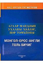 Агаар мандлын ухааны хэллэг, нэр томъёоны монгол орос англи толь бичиг
